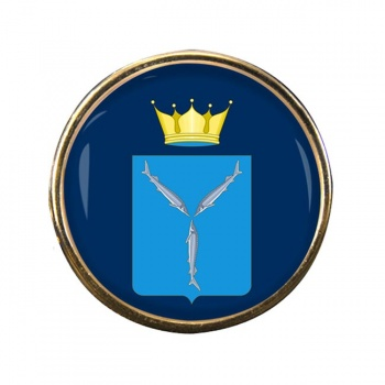 Saratov Oblast Round Pin Badge