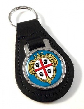 Sardinia Sardegna (Italy) Leather Key Fob