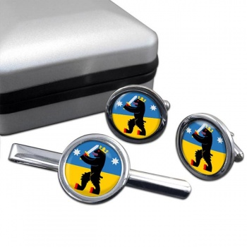 Satakunta Round Cufflink and Tie Clip Set