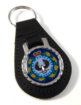 South Australia Police Leather Key Fob