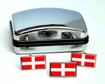 Savoie Savoy (France) Flag Cufflink and Tie Pin Set