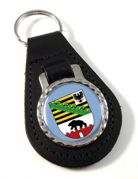 Sachsen-Anhalt (Germany) Leather Key Fob