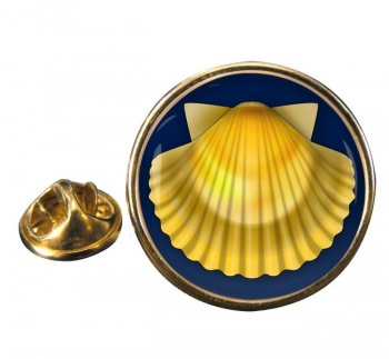 Shell of Saint James Round Pin Badge