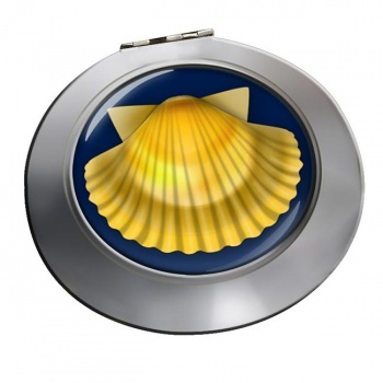 Shell of Saint James Chrome Mirror