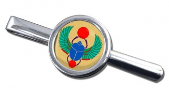 Egyptian Scarab Beetle Round Tie Clip
