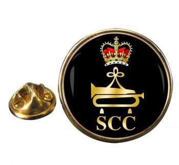 SCC Bugler  Round Pin Badge