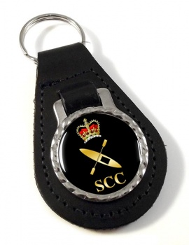 SCC Canoeing Leather Key Fob
