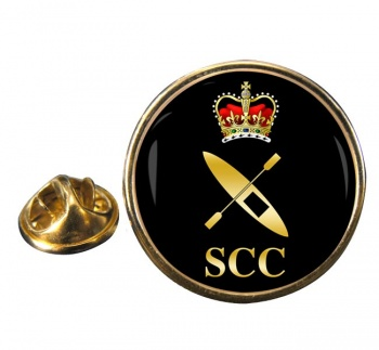 SCC Canoeing Round Pin Badge