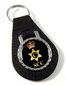 SCC Cook Leather Key Fob