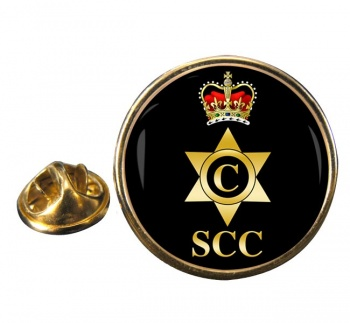 SCC Cook Round Pin Badge