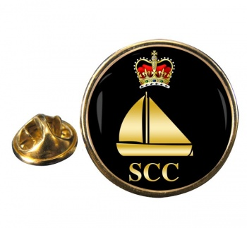 SCC Dinghy Round Pin Badge