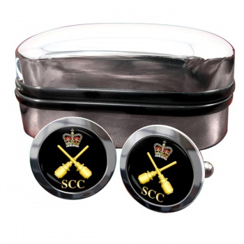 SCC Drill instructor Round Cufflinks