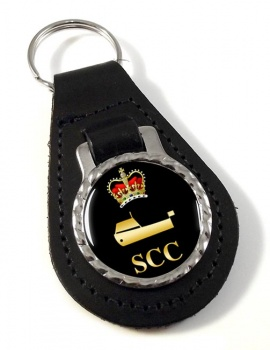 SCC Power Boating Leather Key Fob