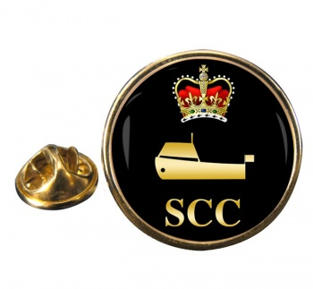 SCC Power Boating Round Pin Badge