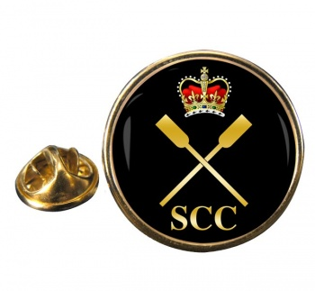 SCC Pulling Round Pin Badge