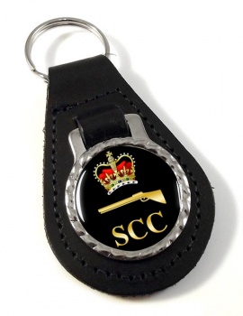 SCC Small Bore Leather Key Fob