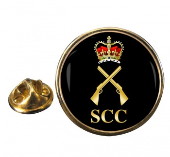 SCC Shooting Full Bore Round Pin Badge