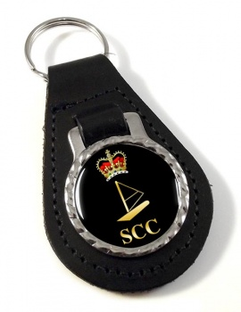 SCC Windsurfing Leather Key Fob