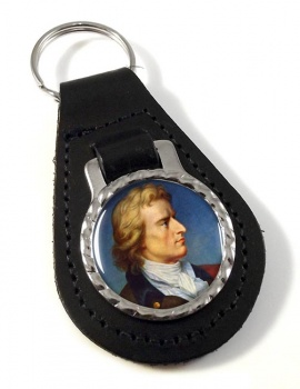 Friedrich Schiller Leather Key Fob