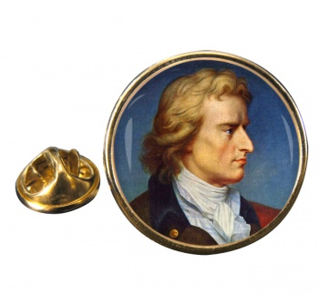 Friedrich Schiller Round Pin Badge
