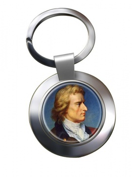 Friedrich Schiller Chrome Key Ring