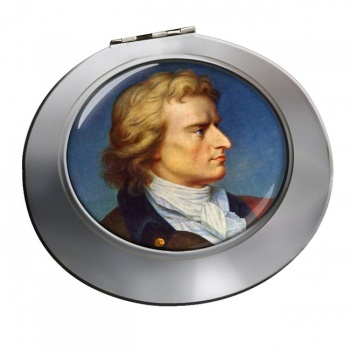 Friedrich Schiller Chrome Mirror