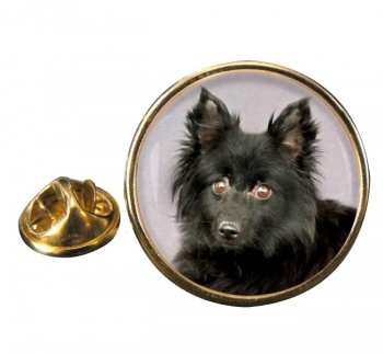 Schipperke Round Pin Badge