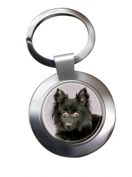 Schipperke Metal Key Ring