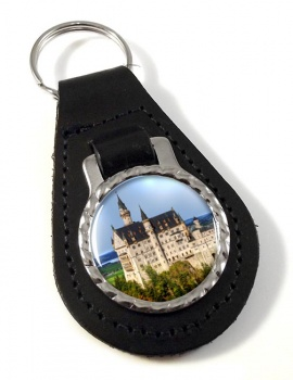 Schloss Neuschwanstein Leather Key Fob