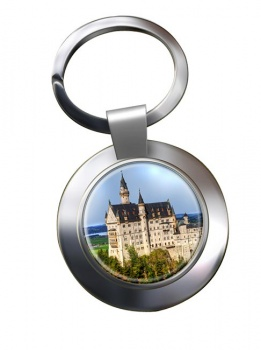 Schloss Neuschwanstein Chrome Key Ring