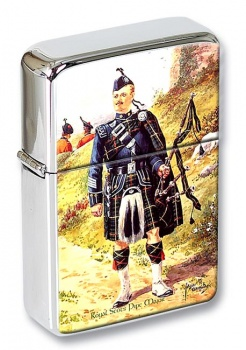 Royal Scots Pipe Major Flip Top Lighter