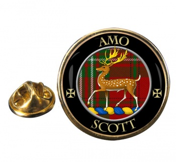 Scott Scottish Clan Round Pin Badge