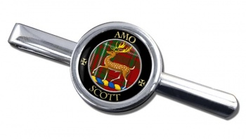 Scott Scottish Clan Round Tie Clip