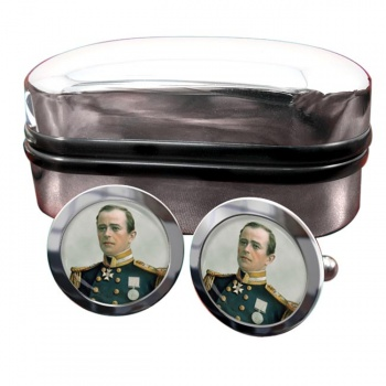 Robert Falcon Scott Round Cufflinks