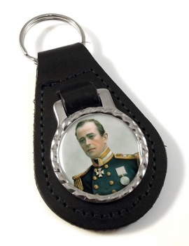 Robert Falcon Scott Leather Key Fob