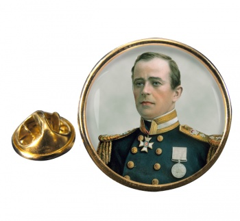 Robert Falcon Scott Round Pin Badge