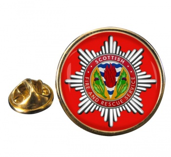 Scottish Fire and Rescue Round Pin Badge