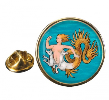 Scylla Round Pin Badge