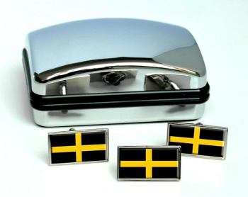 St. David  Flag Cufflink and Tie Pin Set