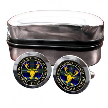 Seaforth Highlanders Scottish Clan Round Cufflinks