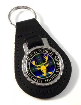 Seaforth Highlanders Scottish Clan Leather Key Fob