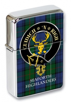 Seaforth Highlanders Scottish Clan Flip Top Lighter