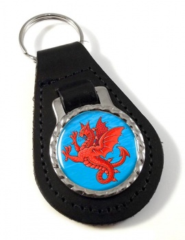 Sea Griffin Leather Key Fob
