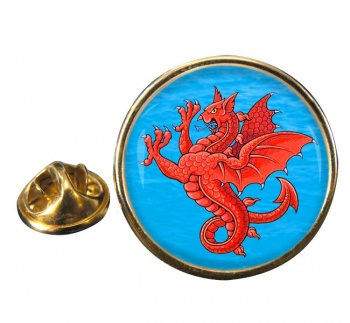 Sea Griffin Round Pin Badge