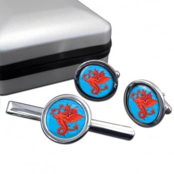 Sea Griffin  Cufflink and Tie Clip Set