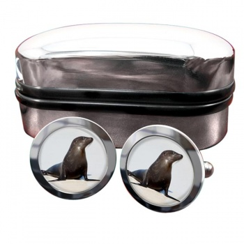 Sea Lion  Round Cufflinks