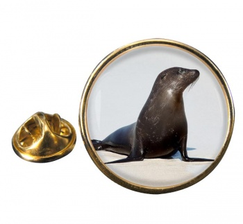 Sea Lion Round Pin Badge