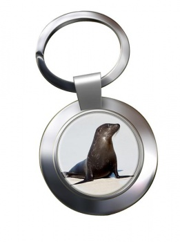 Sea Lion Metal Key Ring