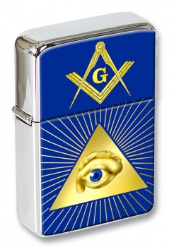 Eye of Providence (All Seeing Eye of God) Flip Top Lighter