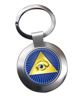 Eye of Providence (All Seeing Eye of God) Chrome Key Ring